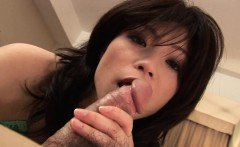 Sucking a fat meaty rod and she has a good time too