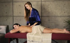 lena paul and angela white steamy lesbo sex on massage table