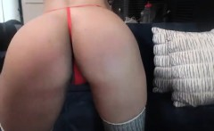 Big ass fetish slut in stockings