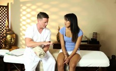 asian massage beauty fucked on table