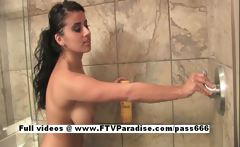 Alexa Loren Tender Busty Brunette At Shower