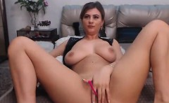 Amateur French whore masturbates on webcam