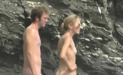 tiny boobs exposed on the beach for hidden cam voyeur video