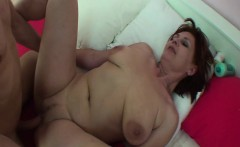 Redhead Mom And Stepson Fucking In Bed