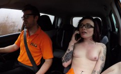 driving student gets anal and ass cum