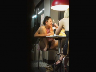 Hidden Upskirt Camera Catches Panties Up A Flowered Skirt
