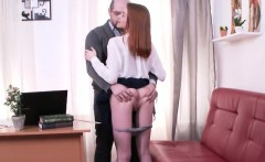 Lovely College Girl Was Tempted And Reamed By Her Elderly Te