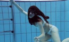 Roxalana swims like a fish with her tight pussy