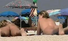 blonde model nudist on the nude beach voyeur video