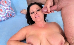 Full Figured Crystal Valentine Sucks a Fat Cock and Fucks It