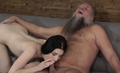 Big load of dick destroying tiny cunt