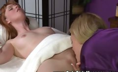 She is ready to go under the towel of her horny client