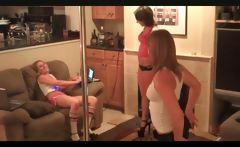 Practicing the pole danc