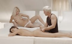 beautiful Sweden blondes threesome