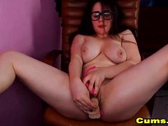 Nerdy Babe Fingering Her Nice Tasty Pussy