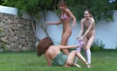 czech chicks watersports in the garden