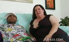 Huge dick for hot plump