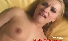 Blonde Maid In Black Stockings Fucked