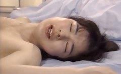 Asian hot sex scene with brunette schoolgirl