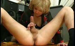 Mature secretary seduce young boss