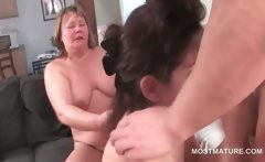 Bisexual matures pussy licked and fucked in orgy