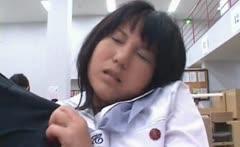 Asian shy schoolgirl gets pussy wet in her panties