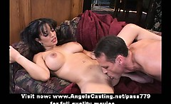Sexy milf does blowjob for pizza guy and gets licked and