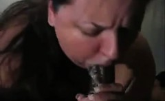Fat Housewife Suck with lots of saliva spiting