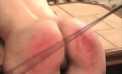 Dirty brunette hoe gets spanked hard