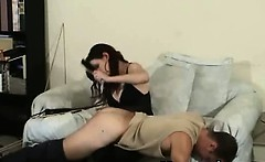 Spanking Teen In Vigorous Fetish Domination