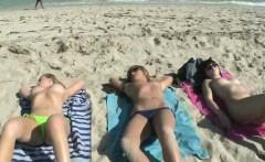 Tan lesbian with big tits gets fingered