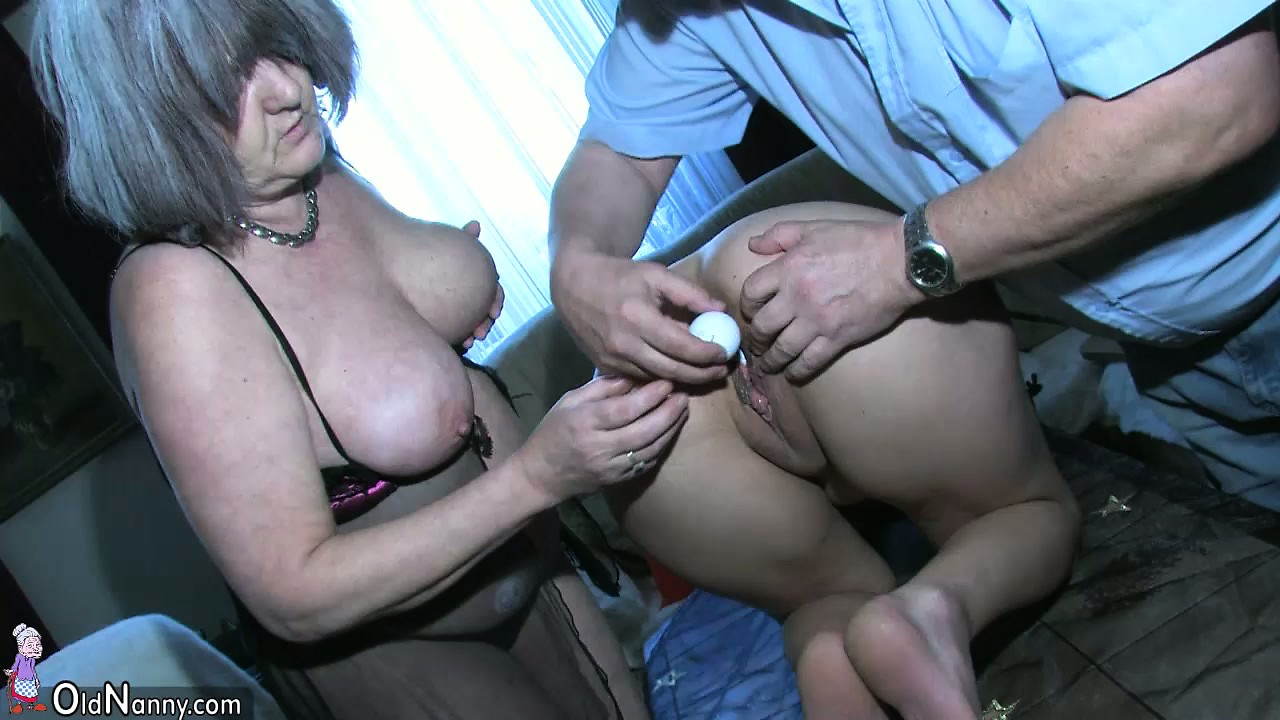 Sexy young Girl playing with old man