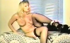 Blonde MILF In Stockings Masturbates