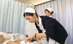 Subtitled CFNM Japanese nurses prep for intercourse