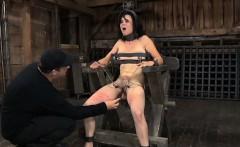 Master is torturing babe's wet crack