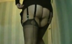 Wearing Stockings At A Hotel