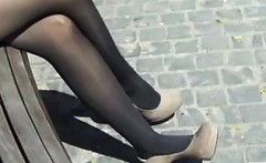 Nylons And High Heels Outside