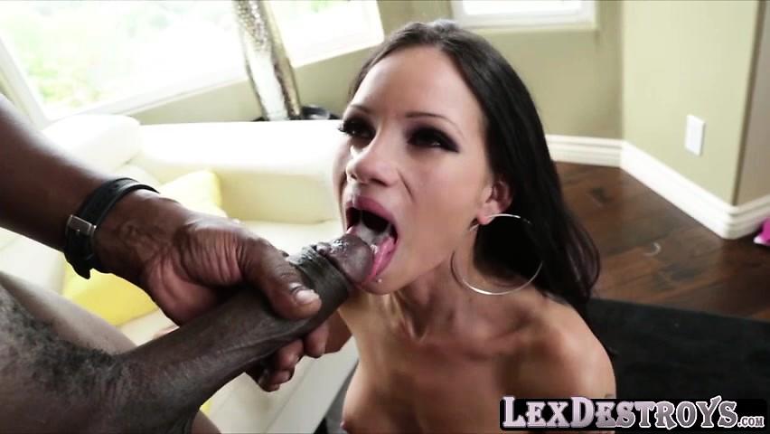 Tattooed Raven gets doggiestyle pounding by Lexington Steele