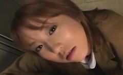 Subtitled POV CFNM Japanese schoolgirl locker room play