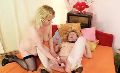 Amateur dames fucking each other plus a fake cock