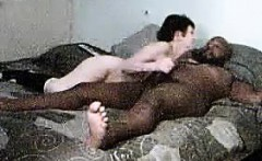 Interracial Co-Workers Fucking On Camera