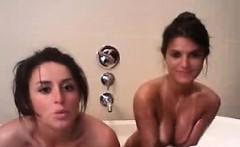 Hot teen lesbians eat pussy on webcam