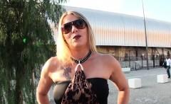 Hot blonde mature Tina double stuffed