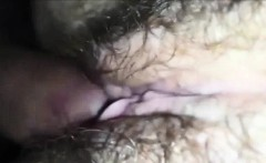 Banging her Hairy Muff Closeup Home Video