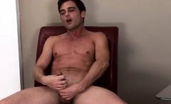 Solo jock masturbating with his thick cock