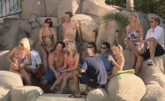 Naughty swinger couples have wild party in the pool