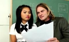 Teacher gives little Cindy a hard exam to help her pass