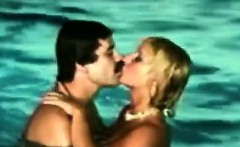 Horny couples explore their swinger side in the pool