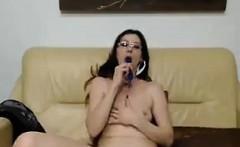 Slut With Glasses Fooling Around