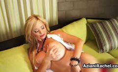 Blonde mature babe with big tits loves
